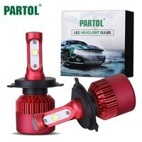 Partol Projecteur LED H4 H7 H11 Ampoule H13 80 W 8000lm Salut/Lo Faisceau unique Auto LED Headight kit lampe h 7 11 4 Brouillard Lumière Led 12 V 24 V
