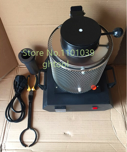 High Quality 220V 3kg Gold Melting Furnace Jewelry Making Machine with 1 Tong 1 Crucible jewelery tools