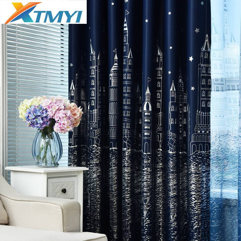 1 Panel star blackout curtains bedroom living room curtain kid's room curtain la cortina del apagon cortina para sala
