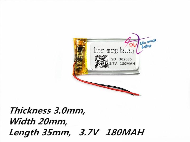 Sd302035 3,7 V 180 Mah Li-tablet Polymer Batterie 302035 032035 Lithium-ionen Polymer Akku Mit Pcm Und Stecker Schnelle Farbe Computer & Büro