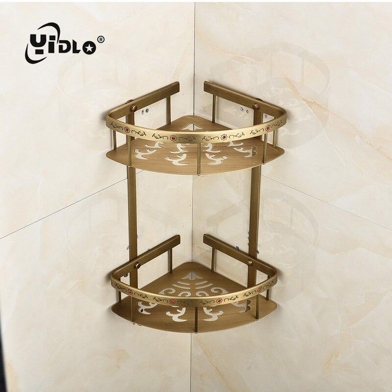 Salle de bain coin panier sculpté diamant Double pont 2 couleur plaque panier multifonctionnel salle de bains pendentif en gros ou au détail