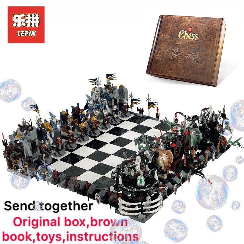 Лепин 16019 творческая фильмы серии 2475 шт. замок LegoINGly 852293 гигантские шахматы Развивающие игрушки для детей Рождественские подарки