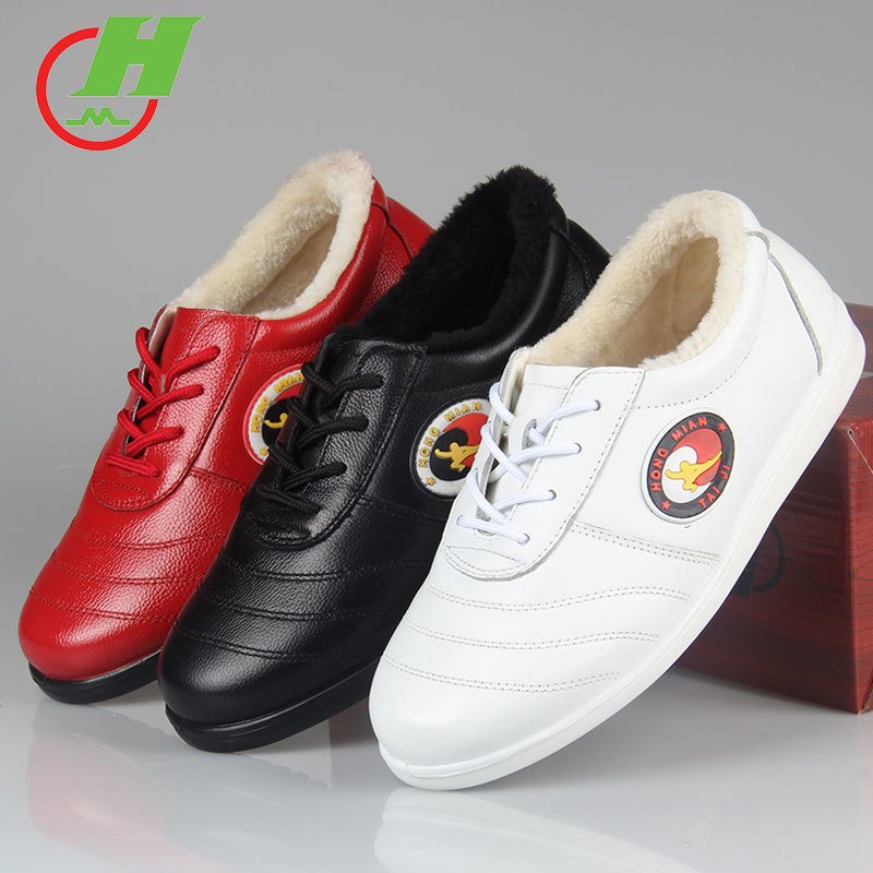 winter Cowhide Leather  Tai Chi Shoes Martial Art Performance warm Shoes Taiji Boxing Practice Shoes Free Flexiblewinter Cowhide Leather  Tai Chi Shoes Martial Art Performance warm Shoes Taiji Boxing Practice Shoes Free Flexible