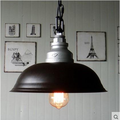 Wrount Iron Retro Style Loft Industrial Lamp VIntage Pendant Lights Fixtures Water Pipe Socket Edison Bulb