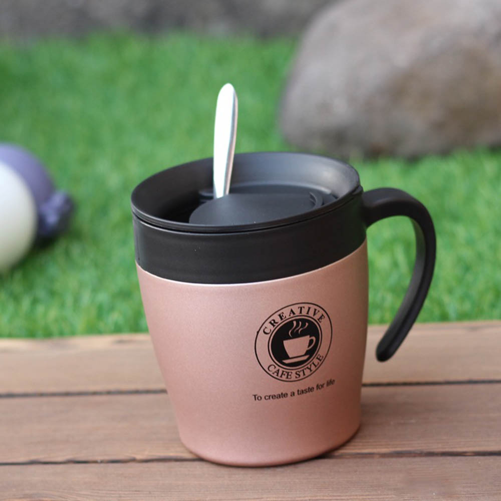 Stainless Steel Thermos Cups Insulated Coffee Cup With Handle Anti-scalding Tumbler Vacuum Flask Travel Office Bottle Mug
