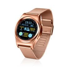 Deporte Bluetooth Ronda Termómetro de Dispositivos Portátiles de Vigilancia Inteligente Smartwatch con Monitor de Ritmo Cardíaco Para Android y iPhone ISO