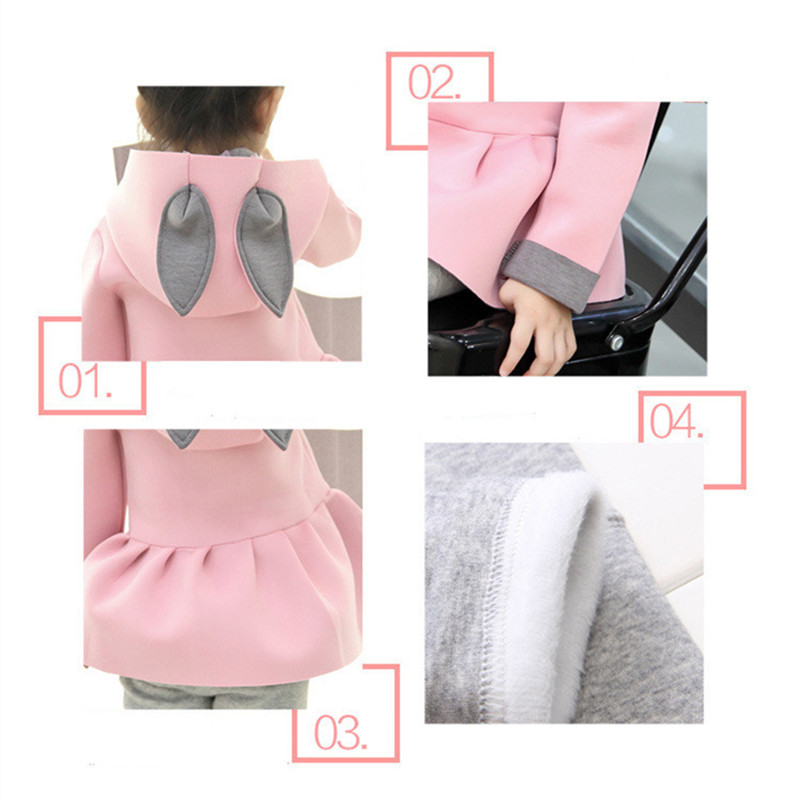 ca617c6fd93f1 Newborn Baby Girl Clothing Rabbit Winter Warm Cotton Coats Cute Hoodies  Infant Girl Jacket for Girls Outwear Children Baby Coat -in Jackets & Coats  from ...