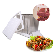 Easy Kebab Maker Box 64 skewers for BBQ Grill tools Skewers maker Beef Meat Brochettes Outdoor Kitchen