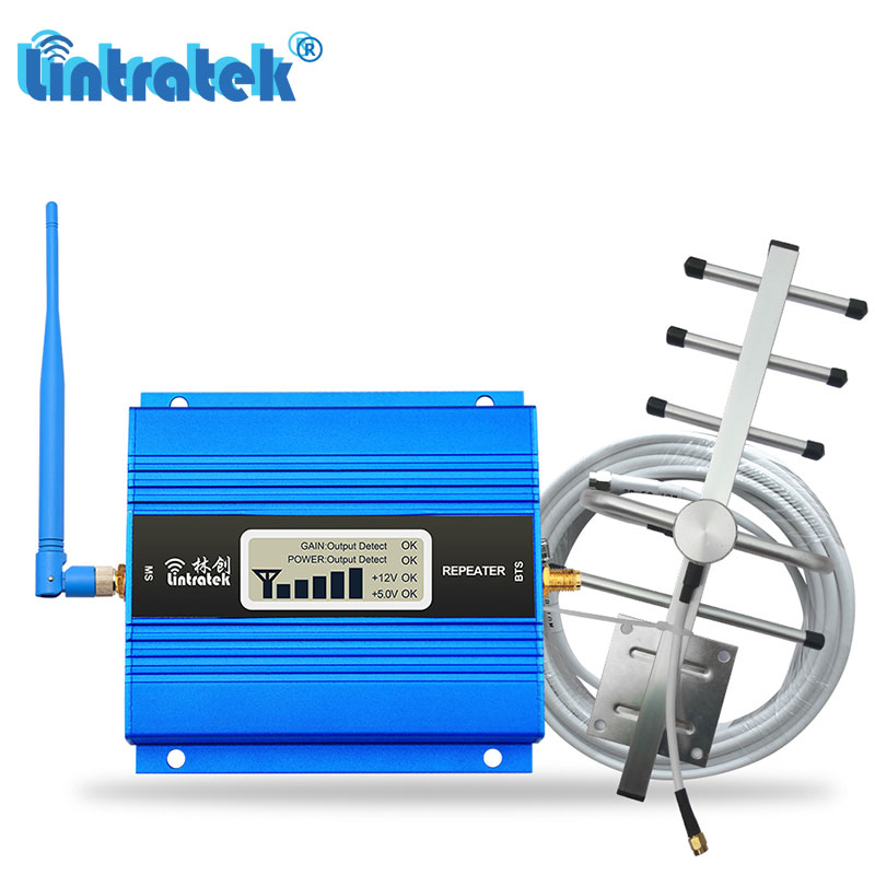 Lintratek Hot LCD Display GSM 900MHz Cell Phone Signal Booster 2G Voice 900 Mobile Cellular Repeater