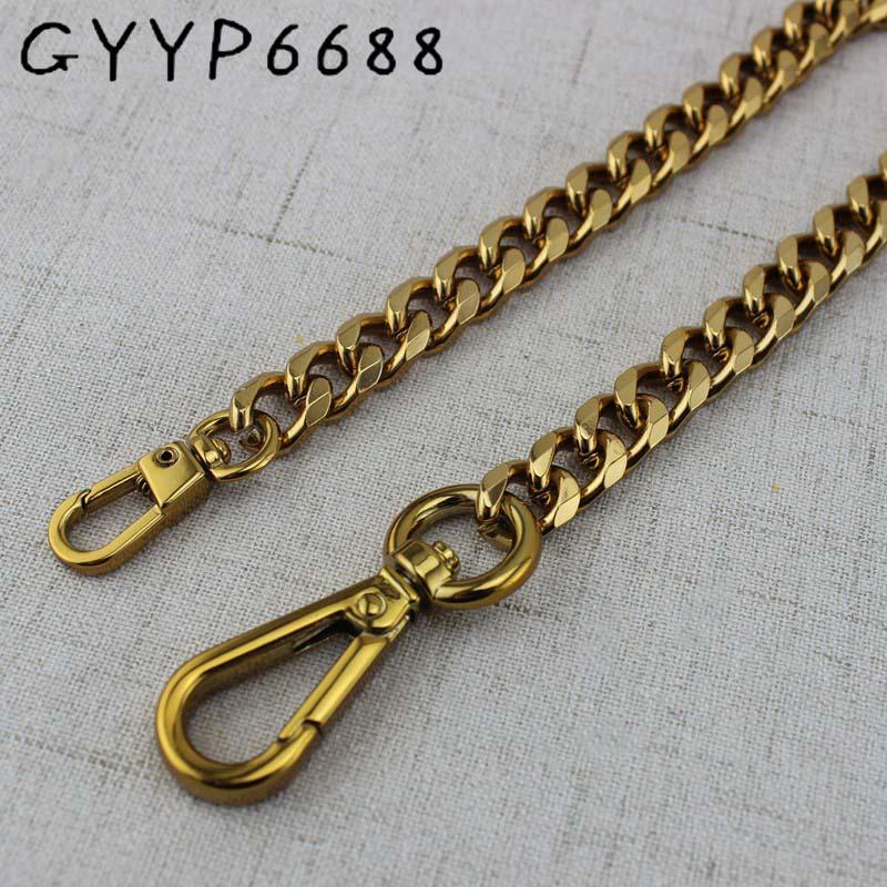 5pcs width 11mm tea gold metal chain pruse chain with buckles shoulder bags handbag handles bag parts accessories