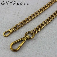 5pcs width 11mm tea gold metal chain pruse chain with buckles shoulder bags handbag handles bag parts accessories