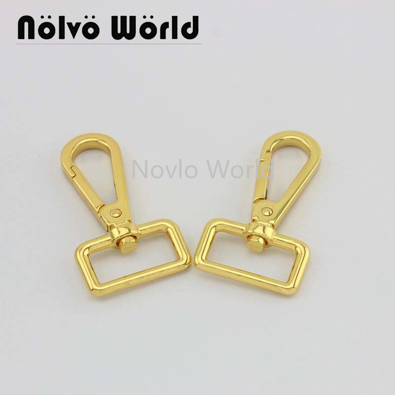 Wholesale 500pcs,4 Colors Accept Mix Color,61*25mm 1 Inch, Metal Buckle Snap Hook Handbag Lobster Buckle Swivel Clasp Hook
