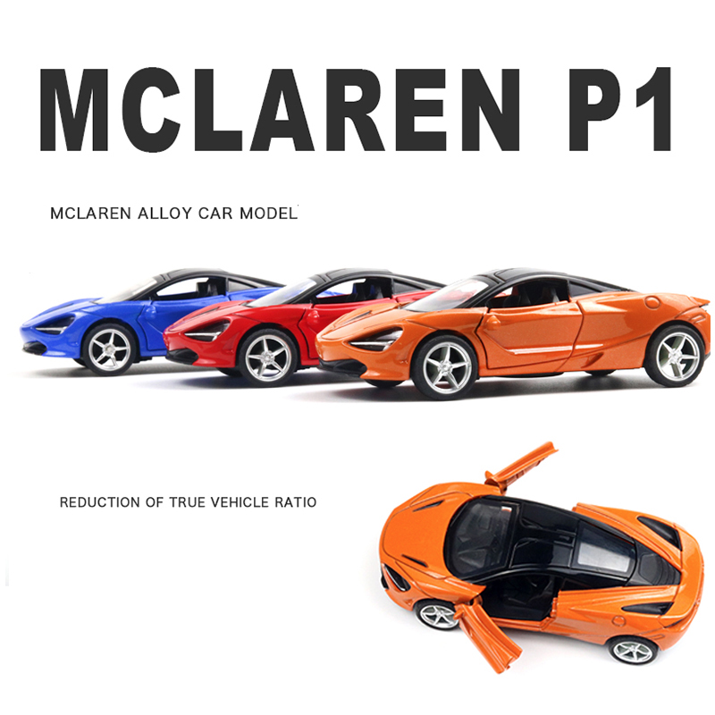 1:36 McLaren P1 Machine Diecasts Toy Vehicles Hot Wheel Car Model With Car Hot Wheel Doors Can Be Opened Toy