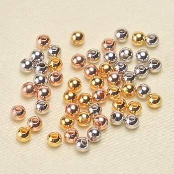 NEW Original craft Gold Color Smooth Metal beads Charms Antique DIY bracelets making 3mm beads for jewelry making CAPJ-0.3.4 image