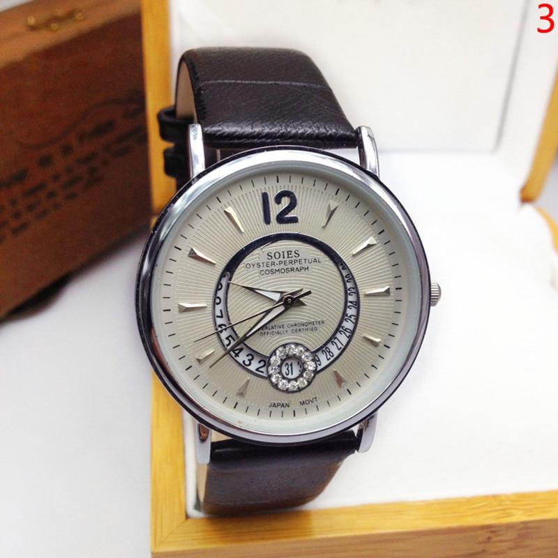 Hot sale relogio masculino quartz watch MEN PU Leather Band Analog Date Quartz Wrist Watch clock horloges Male Clock mannen gift
