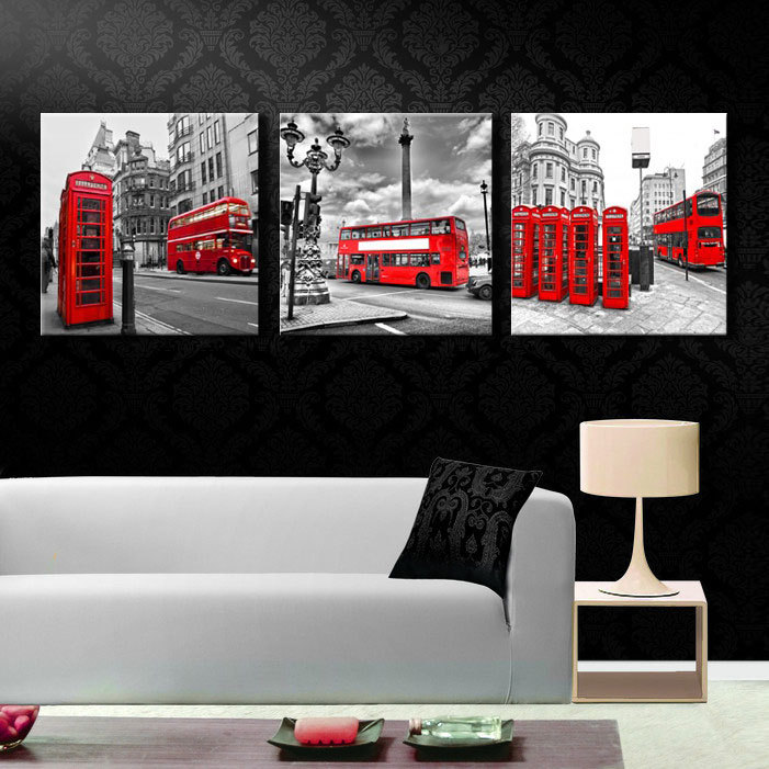 3 Pieces/set Modern Wall Art Printed Canvas Painting Home Decorative London  City Picture Printing On Canvas (No Frame) In Painting U0026 Calligraphy From  Home ...