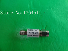 [БЕЛЛА] NARDA 4778-20 DC-12.4GHz 20dB 2 Вт SMA коаксиальный аттенюатор исправлен-2 ШТ./ЛОТ