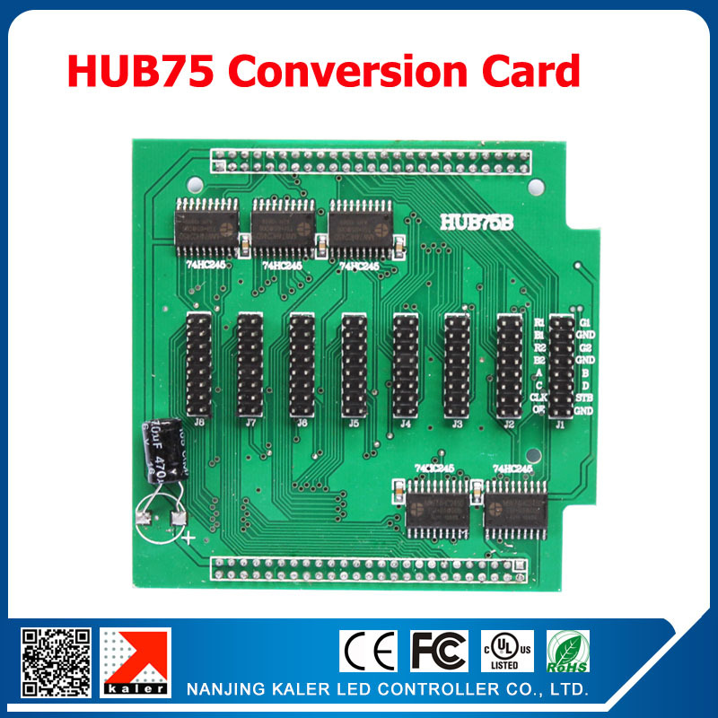 HUB Adapter Plate For LED Sign Control Card Full Color HUB75B Conversion Board