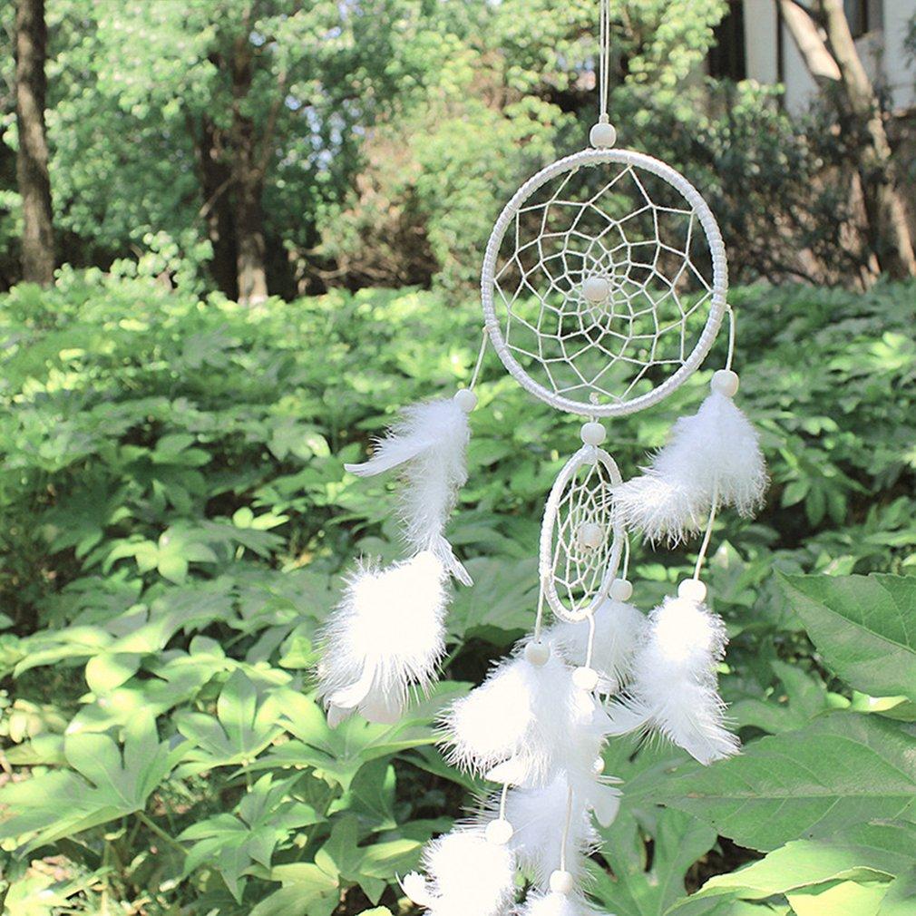 White Dream Catcher Hanging Ornaments Birthday Wedding Decoration Feather