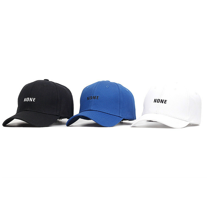 30ab2d7b8b3a5c Korea Stars Group Hat NONE Letter Embroidery Baseball Cap for Men  WomenTeenagers Girls and Boys White