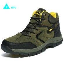 YITU Men Hiking Shoes Autumn Big Size Winter Hiking Sneakers Men Anti-skid Fishing Boots Outdoor Sports Shoes Zapatillas Light