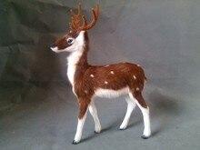 simulation sika deer model toy polyethylene & furs male deer 25x18cm hard model,decoration birthday gift t343
