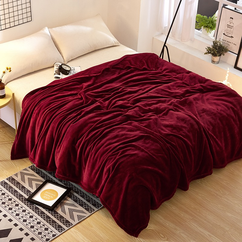 Excellent Us 15 81 15 Off Burgundy Solid Color Flannel Fleece Fluffy Blanket Full Queen Lightweight Cozy Couch Bed Blanket Plush Microfiber In Blankets From Bralicious Painted Fabric Chair Ideas Braliciousco