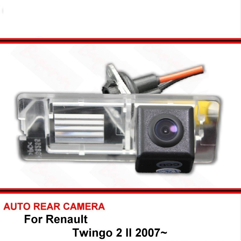 For Renault Twingo 2 / Twingo II 2007 - 2017 Night Vision Rear View Camera Reversing Camera Car Back Up Camera HD CCD Wide Angle