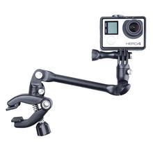 360 градусов вращающийся Регулируемый складной движения Камера держатель для GoPro/SJCAM/xiaomiyi/AEE с Челюсти Зажим