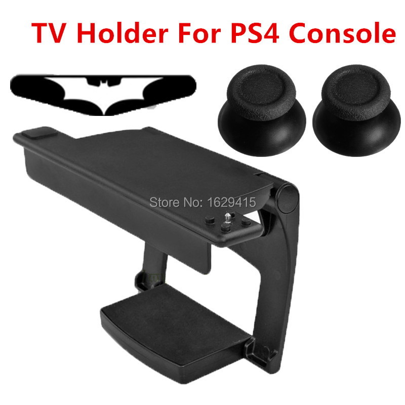 IVY QUEEN Black Hard Plastic Adjustable Clip TV Stand Hold Holder Camera Mount For Playstation 4 PS4 Camera Sensor + Thumbsticks [zob] supply of new original omron omron photoelectric switch ee spy402 5pcs lot