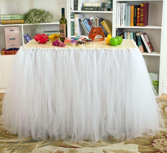 Online Get Cheap Ruffle Table Skirt Aliexpress Com