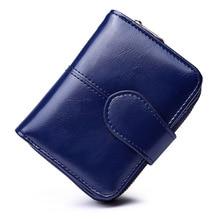 Купить с кэшбэком New Women Wallets Zipper Purse Vintage Short Coin Card Holder PU Leather Ladies Casual Clutch Female Multi-functional Wallet