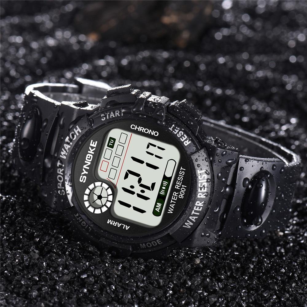 SYNOKE 30M Waterproof Watch LED Digital Luminous Watch LED Military Waterproof Men Wristwatches Montre Homme 618