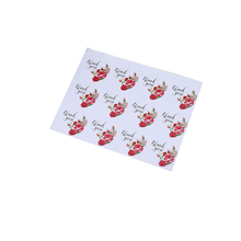 1200 Pcs/lot Kawaii Rose Thank You Hand Made DIY Multifunction Self-adhesive  Seal Sticker Gift Packaging Label School Supply custom printing packaging seal tamper evident tape self adhesive security packaging tapes anti counterfeit label void open seals