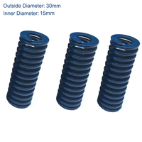 TL 30mm OD 15mm ID 175mm 200mm 250mm 300mm Length Blue Light Load 65Mn Metal Steel Spiral Stamping Compression Mould Die Spring