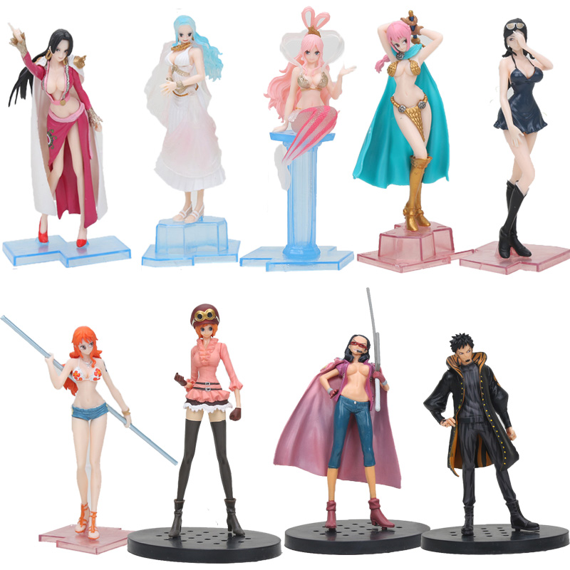5styles 12-25cm One Piece Koala Sailing Boa Hancock Shiny Battle Pirate Flag Diamond Ship Nami Sexy Figure Model Toys Doll Toys & Hobbies