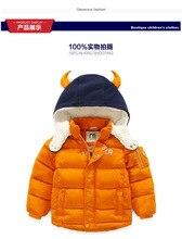New 2016 baby Boys Children outerwear coat fashion kids jackets for Boy girls Winter jacket Warm hooded children clothing  3-8T