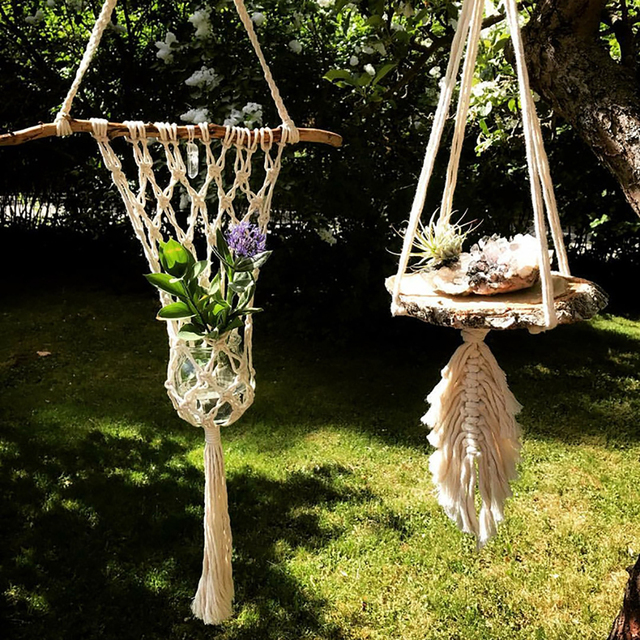 New Macrame Plant Hanger Hanging Planter Basket Flower Pot Holder
