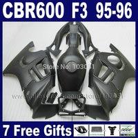 Custom Motorcycle Road fairings kits for Honda matte black CBR600 F3 1995 1996 CBR600F CBR 600 F3 95 96 fairing kit+tank cover