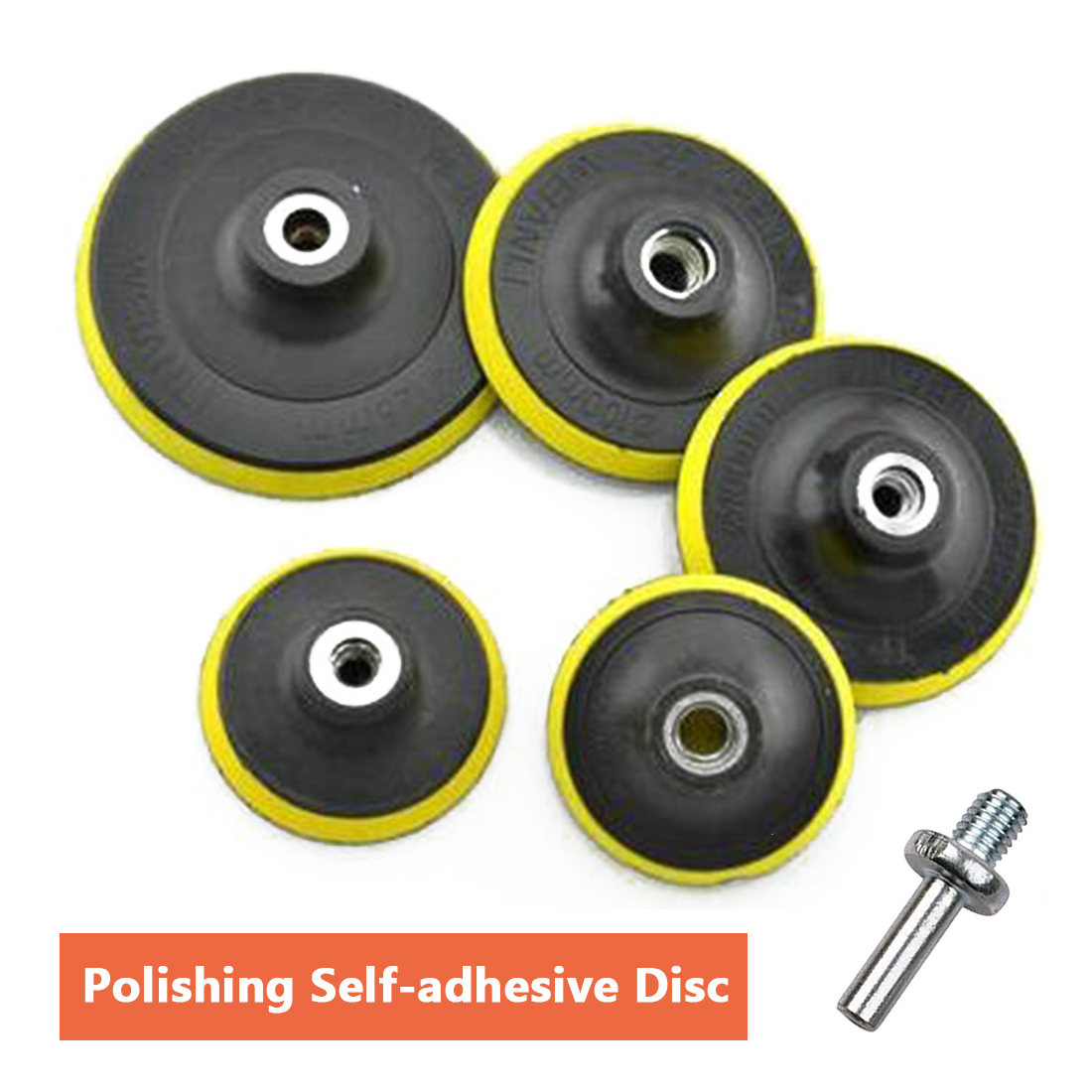 Polishing Disc Suction Cup Self-adhesive Sticky disk 3/4/5/6/7 Sandpaper Sucker Polishing Disc For Electric Grinder Polish polishing pad with self adhesive 175mm 7 thread m14 sanding disc polish pad for electric angle grinder polisher