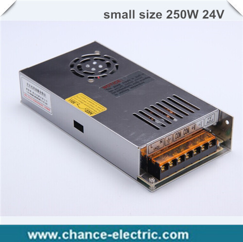 single output smaller volume LED Switching mode Power Supply mini size MS series 250W 24V 10A (MS-250W-24V)