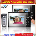 Wholesales 7'' luxury color  video intercom system high-definition photo video door phone with electric lock-control function