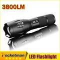 E17 CREE XM-L T6 flashlight Lanterna de 3800Lumens LED Light Zoomable Life Waterproof Flashlight tatica light lantern bike light