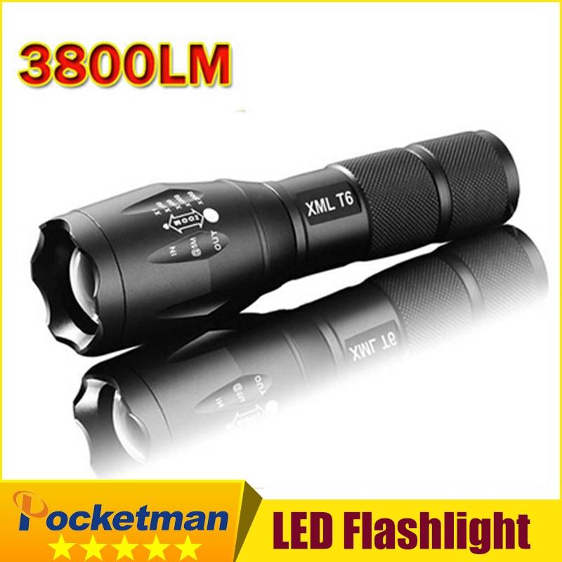 E17 XM-L T6 flashlight Lanterna de 3800Lm LED Light Zoomable Life Waterproof Flashlight tatica light lantern bike light z70 цена