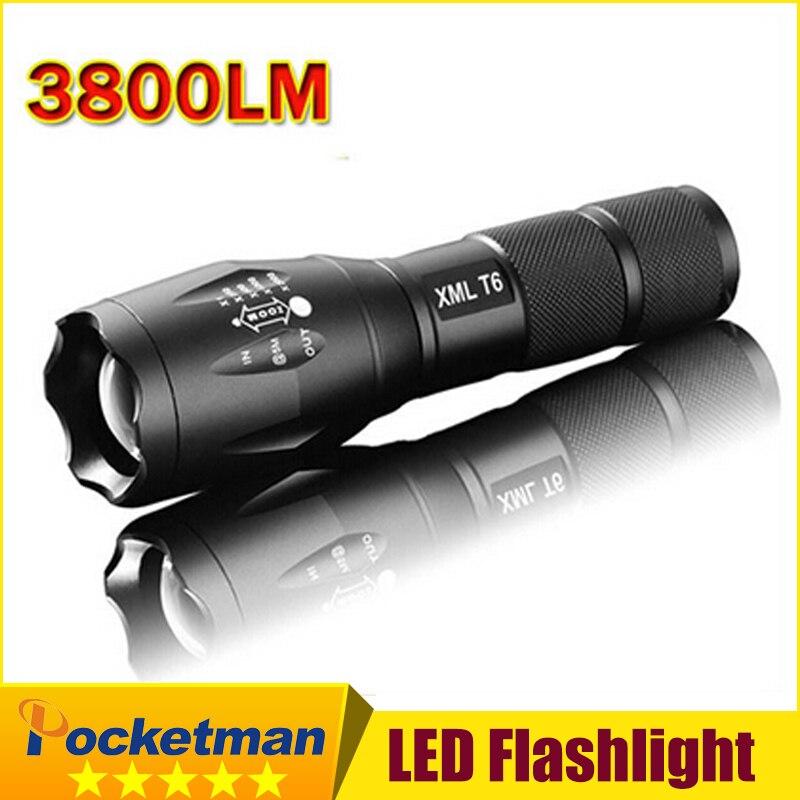 E17 XM-L T6 flashlight Lanterna de 3800Lm LED Light Zoomable Life Waterproof Flashlight tatica light lantern bike light z82