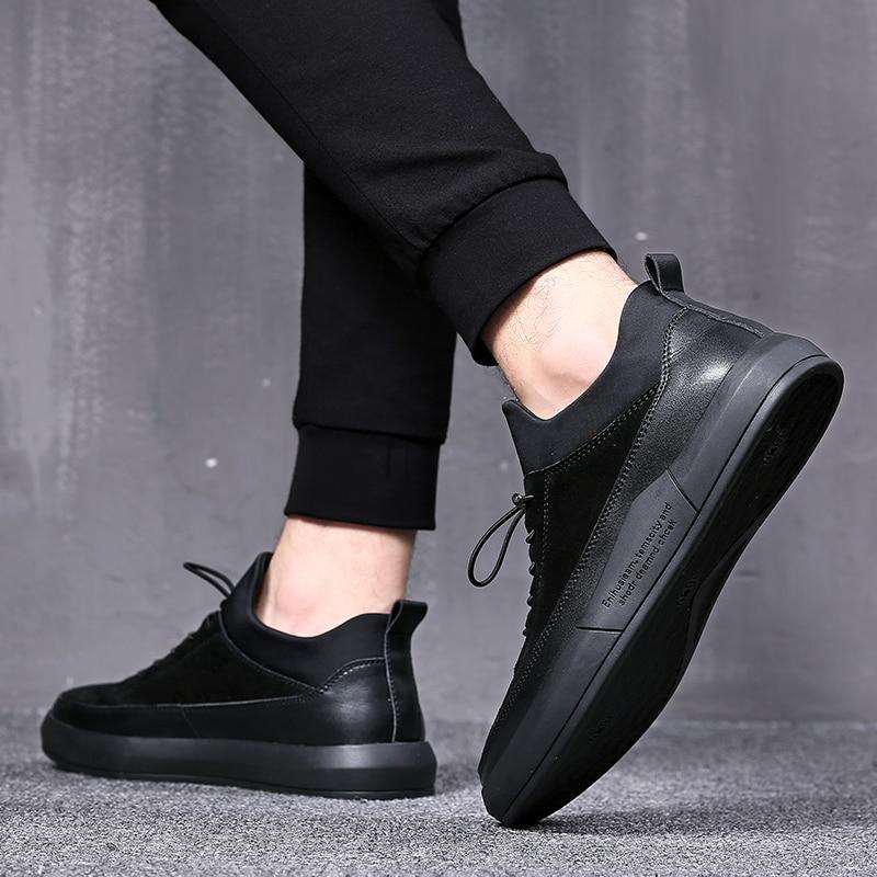 outono Preta Primavera Preto Sapatas Alta Mycolen Dos top Qualidade Respirável Homens De resistant Venda Quente Wear Sapatos Confortáveis Casuais awqF0B
