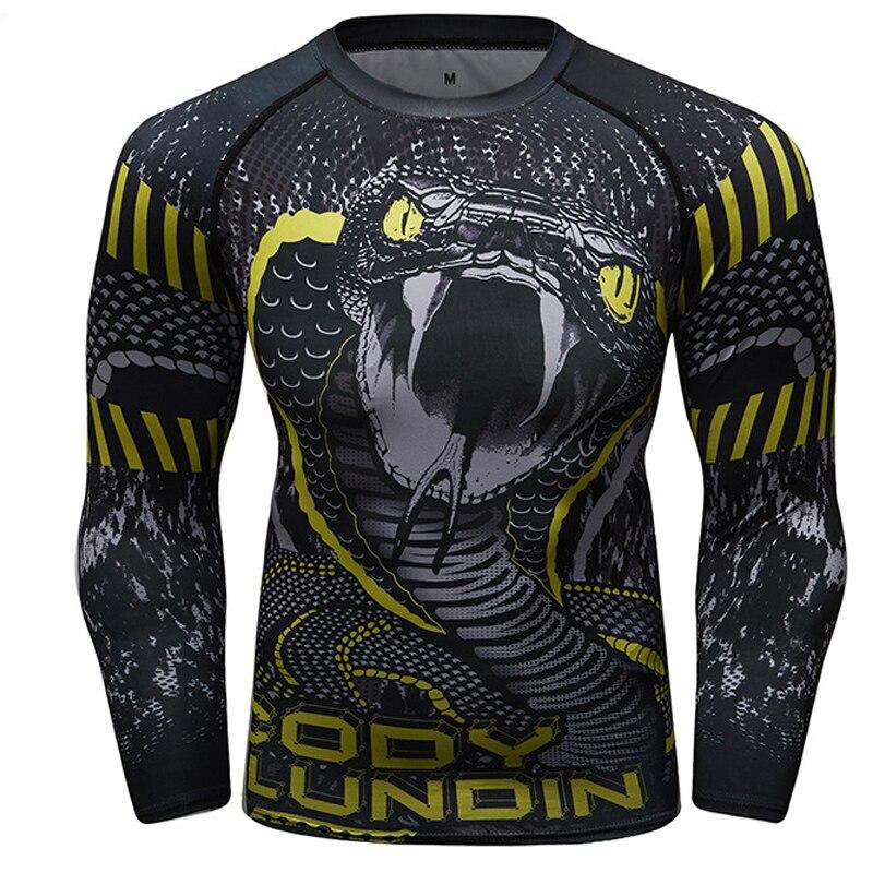 MMA Fight Shirts Tattoo Monkey Pattern Sports Sweater Boxing Rash Guard Jerseys