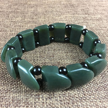 Natural XinJiang HeTian Jade Bracelets Drop Shipping Lucky Amulet Square Nephrite Stone Jewelry For Women Men Gift