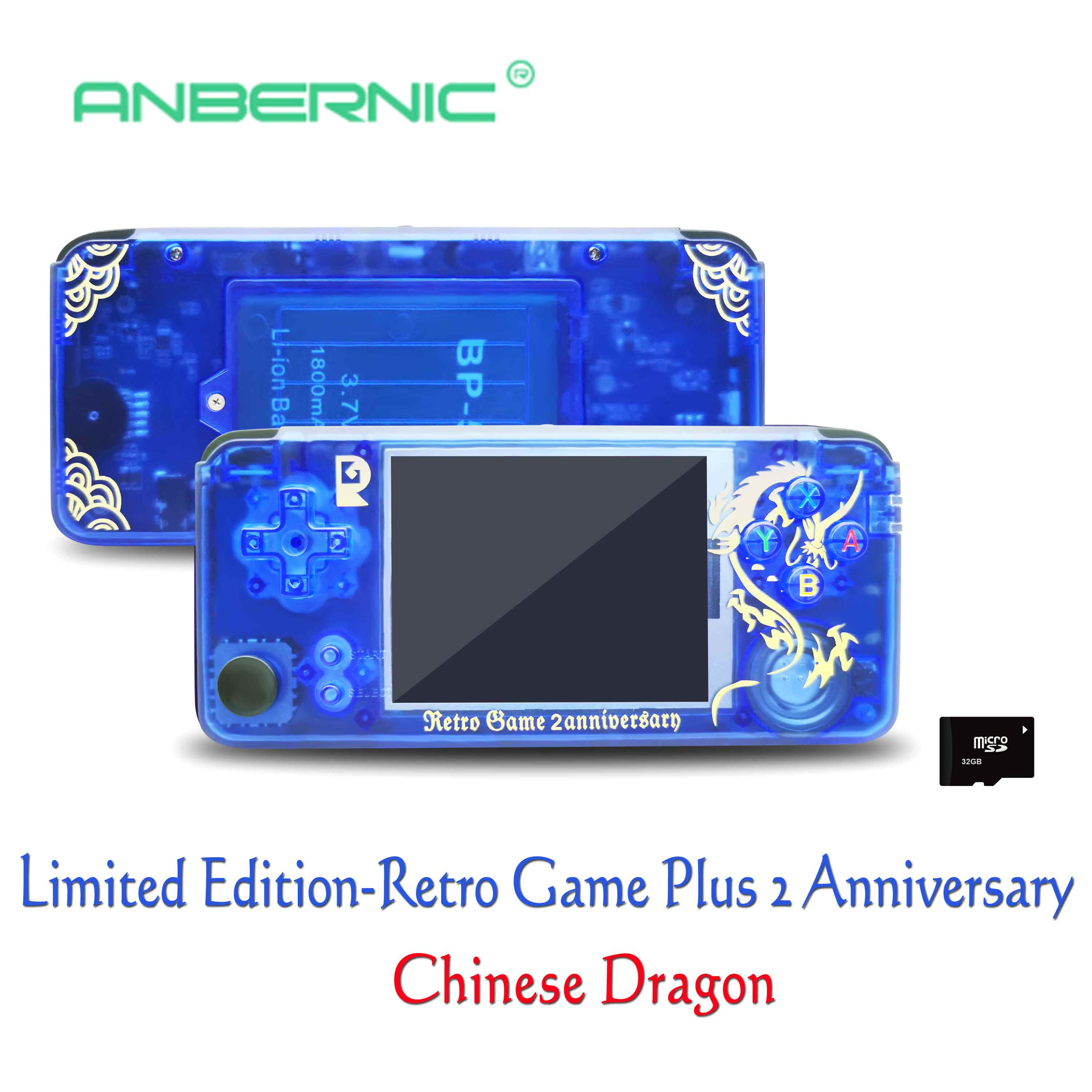Rs 97 New Limited Edition Retro Game Plus 2 Anniversary Video game 3000 Games Omron Button 32G RG3000 Family Gift consola retro