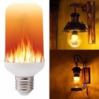 E27 E26 2835 LED Flame Effect Fire Light Bulbs Creative Lights Flickering Emulation Vintage Atmosphere Decorative